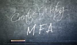 MFA creative writing chalkboard
